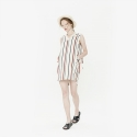 와드로브(WARDROBE) STRIPE OVERLAP ONE PIECE_BEIGE