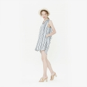 와드로브(WARDROBE) STRIPE OVERLAP ONE PIECE_SKY BLUE