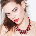 Commetoi Red flower Necklace