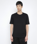로우 투 로우(RAW TO RAW) double layered short sleeve tee(black)