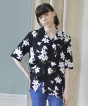 에프티에프클로징() (Unisex) Oriental hawaiian shirts - black