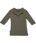 이즈오프(EASEOFF) EAE-004 deep V neck (FOR WOMEN) (khaki)
