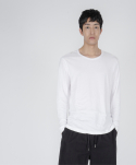 로우 투 로우(RAW TO RAW) double layered long sleeve(white)