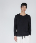 로우 투 로우(RAW TO RAW) double layered long sleeve(black)