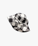 논로컬(NONLOCAL) Check Buket Hat -Black