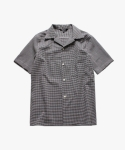 논로컬(NONLOCAL) Seersucker Check Shirts-Black