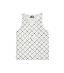 엘유피(L.U.P) L.U.P FENCE PRINTING SLEEVELESS T-SHIRTS_white