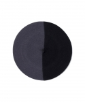 부에나비스타(BUENAVISTA) [부에나비스타] BUENAVISTA X BOINAS ELOSEGUI BASQUE BERET / BLACK&GRAY (MEDIUM / 13.5 INCH)