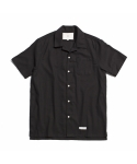 "제로(xero) Hawaiian Linen Solid Shirts ""Black"""