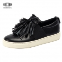 BLACK TASSEL SLIPON SNEAKERS_S3062B