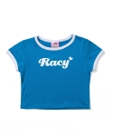 RACY CROP T_BLUE