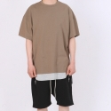 페이드6(FADE6) OVER BOXY T-SHIRT DARK OLIVE