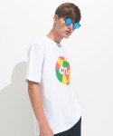 Collage Logo Tee White
