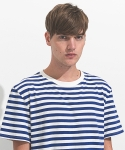 오버나이스(OVERNICE) Thin Stripe Tee Blue/White