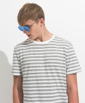Thin Stripe Tee Grey/White
