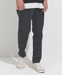 One Tuck Cotton Pants Charcoal