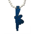 """GOODWOOD NYC 8 BIT RIFLE PENDANT NECKLACE """