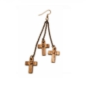 GOODWOOD CROSS DANGLE EARRINGS