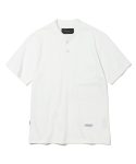 유니폼브릿지(UNIFORM BRIDGE) 17ss 10s heavyweight henley neck tee off white