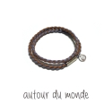 오뜨르 뒤 몽드(AUTOUR DU MONDE) MIX DOUBLE MEN BRACELET