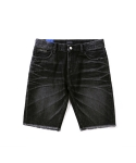 리타() Rugged denim shorts black