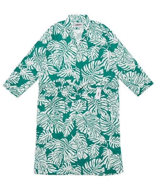 써틴먼스_16 ss big leaf robe green