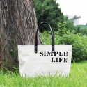 모노노(MONONO) [Simple Life] Cow Leather Shopper Bag_Cotton 100 Ivory