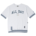 로맨틱크라운(ROMANTIC CROWN) [ROMANTICCROWN]ALLDAY PK 1/2 SHIRT_WHITE