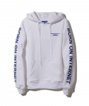 브라쉬(BRASHY) BRASHY / BORN ON INTERNET HOODIE / WHITE