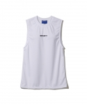 브라쉬(BRASHY) BRASHY / MONOGRAM EMBROIDERY SPORTY MUSCLE TEE / WHITE