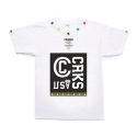 크룩스앤캐슬(CROOKS & CASTLES) CROOKS & CASTLES  Knit Crew T-Shirt - Hometeam (White)