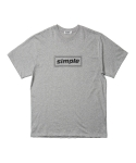 심플(SIMPLE) SIMPLE BOX LOGO MELANGE