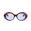 하이비션(HYBITION) Roswell Original Glossy Red Leopard / Blue Tint Lens