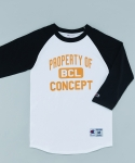 비씨엘컨셉스토어(BCLCONCEPTSTORE) PROPERTY OF BCL RAGLAN T-SHIRTS WHITE/BLACK