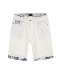 콰이트(QUITE) [콰이트] Flory Patched Shorts (BLUE)