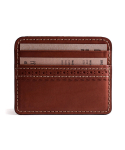 브로그앤머로우(BROGUE AND MORROW) Brogue Card Case (Cognac)