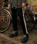 언아웃핏(AOTT) UNISEX COLORATION TAPERED SLACKS AP-02 BLACK