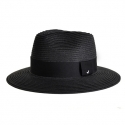 어썸니즈(AWESOME NEEDS) STRAW FEDORA HAT_BLACK_black strap