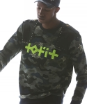 Tofit Fluorescence Logo with Neo Military Sweatshirts