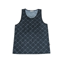 엘유피(L.U.P) L.U.P FENCE PRINTING SLEEVELESS T-SHIRTS_black