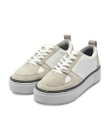 T 101 Low-Top Sneakers - White/Beige