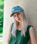 마네스(MANES) Flower Egg Denim Ball Cap (Normal Denim)