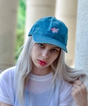마네스(MANES) Gold Fish Denim Ball Cap (Dark Denim)