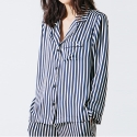 Very Pajama Shirt_Navy Stripe
