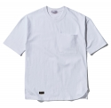 팜스트럭(FARM'S TRUCK) Unbalance_over fit ½ T-shirt(White)
