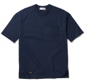 팜스트럭(FARM'S TRUCK) Unbalance_over fit ½ T-shirt(Navy)