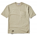 팜스트럭(FARM'S TRUCK) Unbalance_over fit ½ T-shirt(Beige)