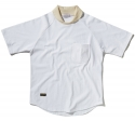 팜스트럭(FARM'S TRUCK) Round off_collar ½ T-shirt(White)
