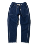 Reverse_denim fatigue pants