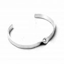 오모플라타(OMOPLATAA) TWIST SILVER FLAT BANGLE